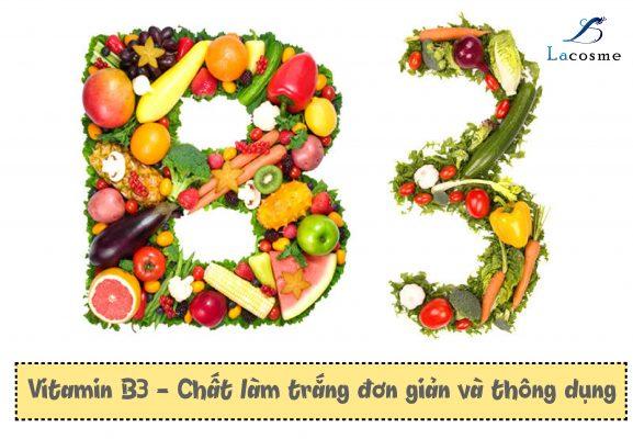 Nguyên liệu làm mỹ phẩm trắng da Vitamin B3